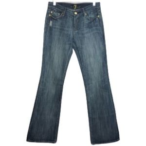 7 For All Mankind Distressed Flare Jeans